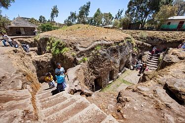 Adadi Maryam / Anfar Debre Maryam, a rock hewn Ethiopian Orthodox Tewahedo Church. Adami, Oromia, Ethiopia, Africa, March 2009.