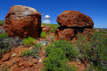 Observatory on horizon, Kagga Kamma Reserve, Cederberg Mountains, South Africa, January 2013.