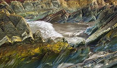 Coastal sedimentary rocks (sandstone, mudstone, dolomite, limestone) Vardo, Finnmark, Norway, July 2006.