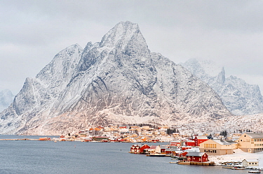 Reine fishing village, Moskenes, Lofoten, Nordland, Norway, January 2010.