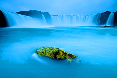 Long exposure of Godafoss waterfall, Iceland.