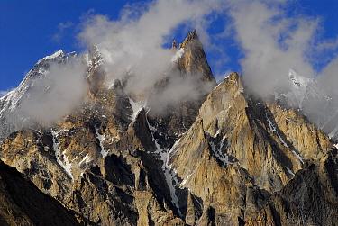 View of Trango Towers (6,286m), Central Karakoram National Park, Pakistan, July 2007.
