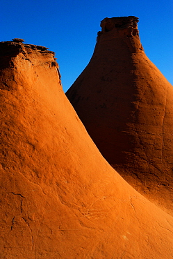 Sandstone monoliths, Colorado Plateau, Kodachrome Basin State Park, Utah, USA November 2012
