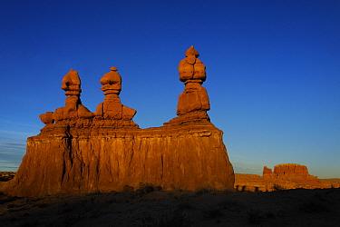 Sandstone formations in Goblin Valley State Park, Utah, USA November 2012
