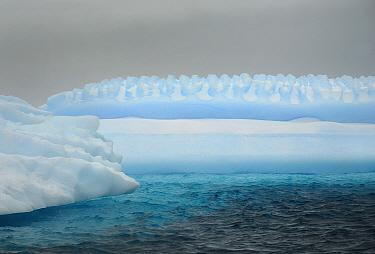Icebergs in Iceberg Alley, Pleneau Island, Antarctica.