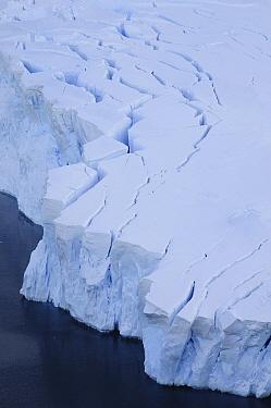 Aerial shot of glaciers, Neko Harbour, Andvord Bay. Antarctic Peninsula, Antarctica
