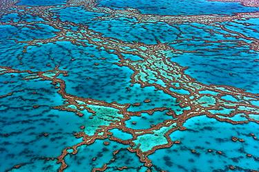 Aerial view of Hardy Reef, Great Barrier Reef, Queensland, Australia, December 2010.