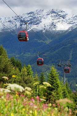 Cable cars at Fiss, Nordtirol, Austrian Alps, June 2014.
