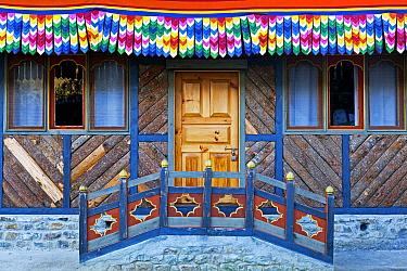 Doorway of the poet Dilgo Khyentse Rinpoche's house, near Paro, Bhutan, October 2014.