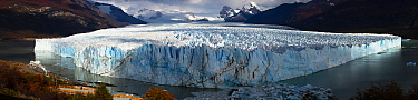 Panoramic view of the Perito Moreno Glacier, Patagonia, Argentina. April 2013.
