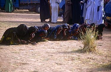 Peul / Fula 'debutantes' at ceremony, Ngarawal Fuduk near Agadez, Niger, 2005.