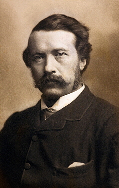 Photograph of George John Romanes (1848-1894) Canadian born English naturalist, friend of Darwin, and author of Animal Intelligence and Mental evolution.