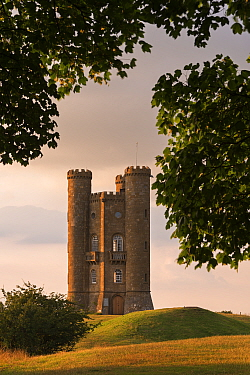 Broadway Tower, one of the Cotswolds most recognisable buildings designed by James Wyatt in 1794, Worcestershire, England, UK. July 2014.