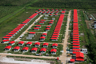 Aerial view of housing project near Georgetown, Guyana South America
