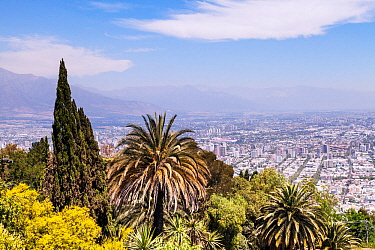Santiago,  the capital and largest city of Chile. December 2013.