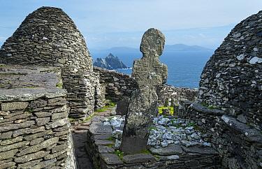 Monastery on Skellig Michael, Skellig Islands World Heritage Site, County Kerry, Ireland, Europe. September 2015.