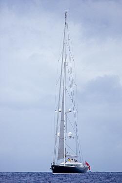 Superyacht, Dominica, Caribbean Sea, Atlantic Ocean.