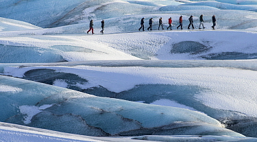Glacier walk on the Svinafjellsjokull, Iceland, March 2016.