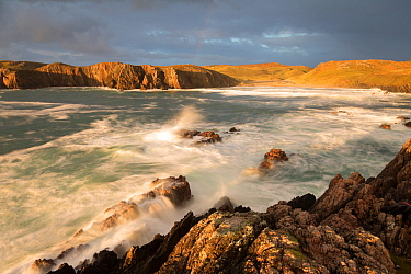 Stormy light over Mangurstadh / Mangersta beach, Isle of Lewis, Outer Hebrides, Scotland, UK, October 2014.