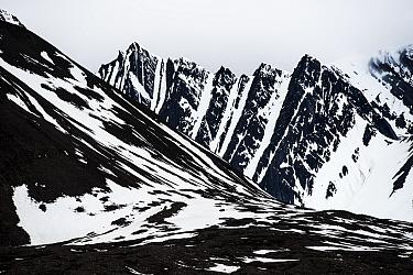 Mountains in Bellsund, Svalbard, Norway, June 2015.