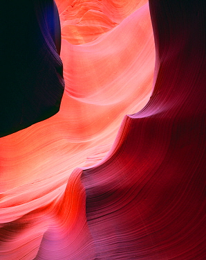 Patterns on the walls of a slot canyon on the Navajo Indian Reservation, Antelope Canyon, Arizona, USA