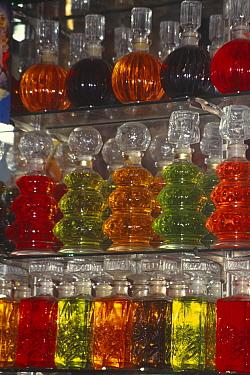 Perfume bottles in Cairo Bazaar, Egypt