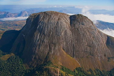 Aerial view of  Mount Namuli, Mozambique, May 2011.
