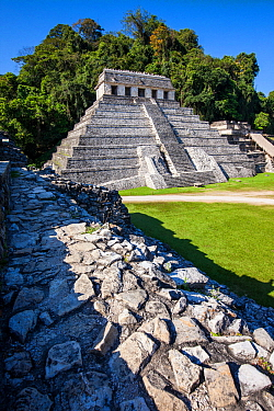 Temple of the Inscriptions, Palenque Mayan ruins, Chiapas, Mexico, March 2017.