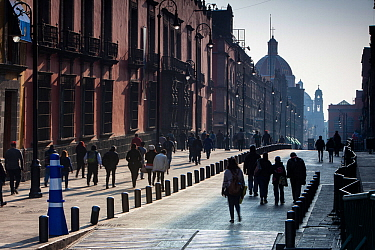 Street in Mexico City. Mexico, March 2017.