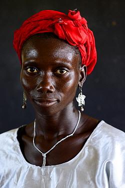 Portrait of woman taken at carnival, Eticoga, Orango Island, Bijagos UNESCO Biosphere Reserve, Guinea Bissau, February 2015.