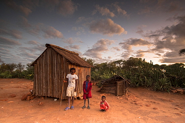 People who work and live on the sisal plantations at the edge of Berenty Private Reserve, southern Madagascar, August 2016.