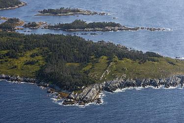 Aerial view of the Eastern shore of Nova Scotia, Canada, September.