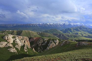 At-Bashi site in Inner Tien-Shan region, Western Tien-Shan UNESCO Natural World Heritage Site, Kyrgyzstan Republic, June 2016