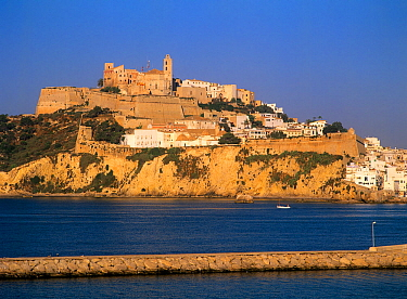 Fortified city of Dalt Vila, Ibiza city, Ibiza biodiversity and culture UNESCO World Heritage Site, Spain.