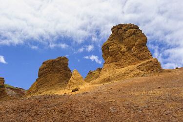Arid landscape of Deserta Grande, Madeira, Portugal, 2013.