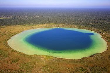 Aerial shot of the Laguna Chumkapo, Quintana Roo, Yucatn Peninsula, Mexico. February 2014. Photographed for The Freshwater Project
