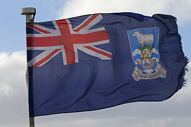 The flag of the Falkland Islands, December 2016