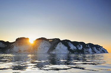 Chalk Cliffs, Kreidefelsen, Mon Island, Denmark, July.