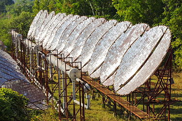 Solar powered  air conditioning for the Ashram's hospital. Muni Seva Ashram in Goraj, near Vadodara, India, December 2013.