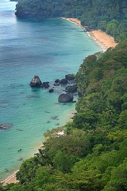 Coast of Boi Beach and Macaco beach, Principe Island UNESCO Biosphere Reserve, Democratic Republic of Sao Tome and Principe, Gulf of Guinea.
