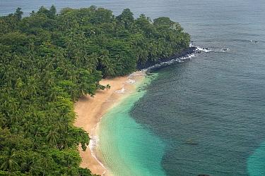 Banana beach, Principe Island UNESCO Biosphere Reserve, Democratic Republic of Sao Tome and Principe, Gulf of Guinea