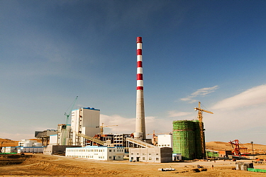 Coal fired power plant being constructed in Inner Mongolia, China, March 2009. In 2008 China officially became the worlds largest emitter of greenhouse gases.