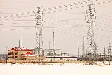 Electricity pylons, Northern China, March 209.