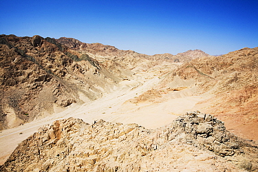 Mountains of the Sinai desert near Dahab, Egypt. October 2008.