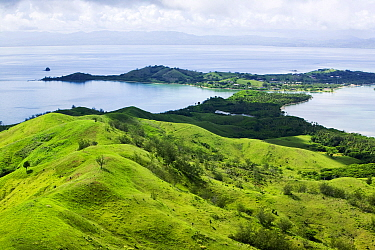 View from the summit of Malolo island, Mamanuca Islands, Fiji. March 2007.
