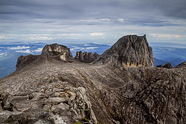 Oyayubi Iwu Peak, Alexandra Peak & Dewali Pinnacles, as seen from the summit of Mount Kinabalu  (4,095m), Borneo, May 2013.
