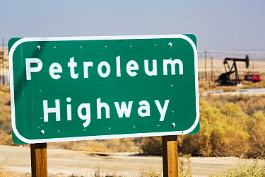 The  Petroleum highway in the Midway Sunset oilfield in Maricopa, Bakersfield, California, USA. September 2014.