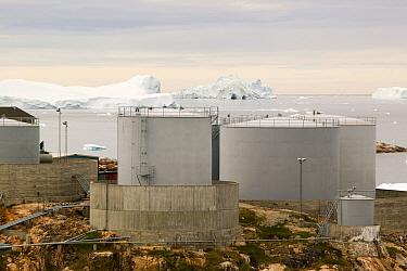 Oil storage depot in Ilulissat, Greenland, July 2008.