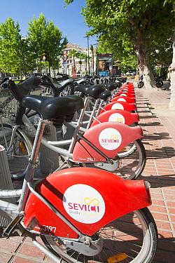 A public bike hire scheme in Seville, Spain. May 2011.