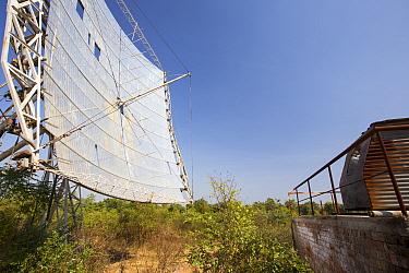 Solar crematorium at The Muni Seva Ashram in Goraj, near Vadodara, India. December 2013.
